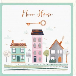 House and Key New Home Card