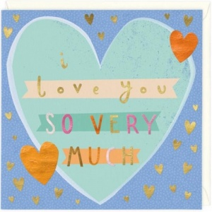 I Love you much greetings card
