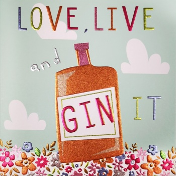 Love Live And Gin It Card