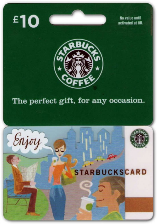 image relating to Starbucks Printable Gift Card identify Starbucks Present Card