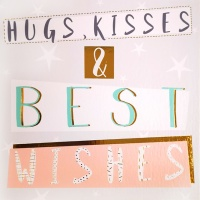 Hugs Kisses And Wishes Card
